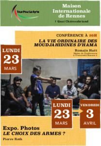 affiche conférence-exposition photos du 23 mars 2015