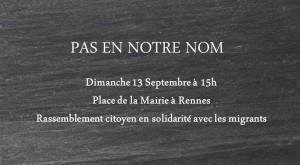 rassemblement Pas en notre nom - Rennes