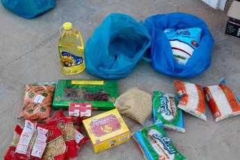 préparation de colis alimentaires