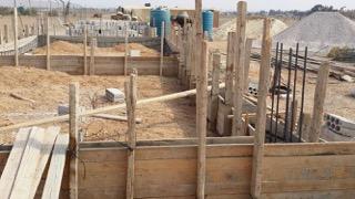 début des travaux de construction de l'école