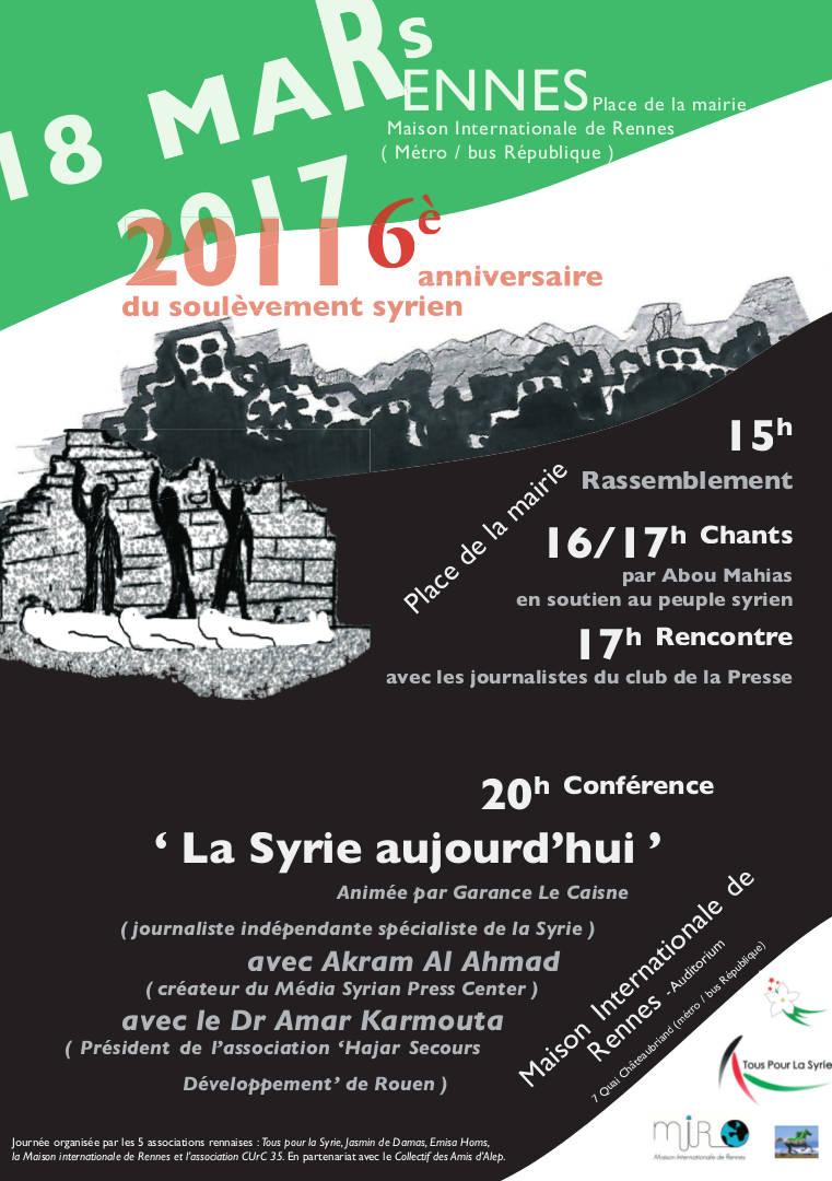 Une journée pour la Syrie 2017