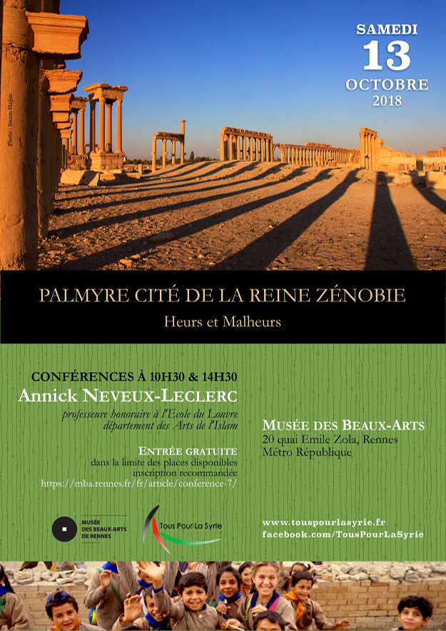 Palmyre, cité de la «reine» Zénobie – Heurs et Malheurs, le samedi 13 octobre 2018
