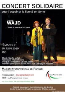 affiche du concert de l'ensemble WAJD