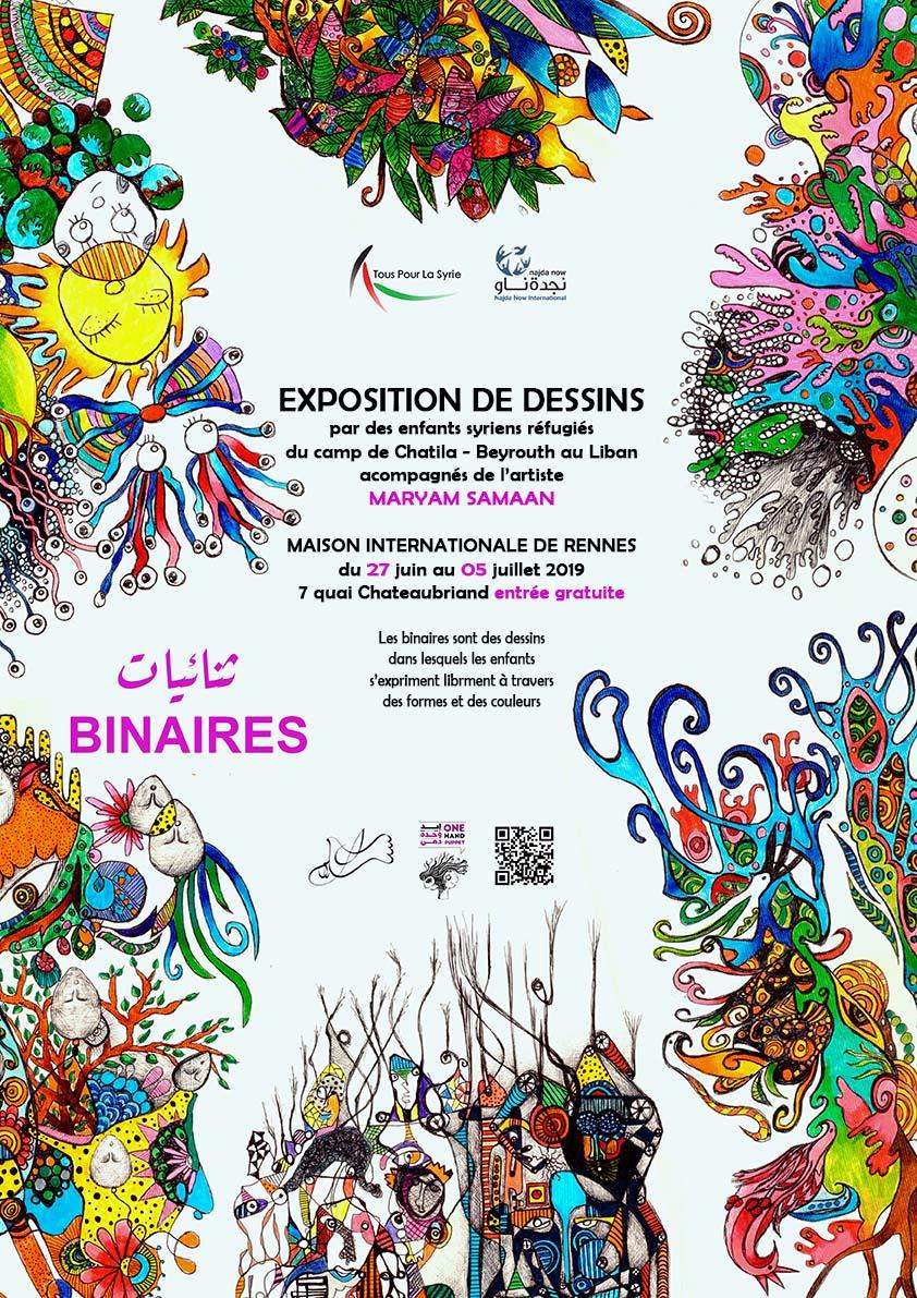 Exposition de dessins d'enfants du camp de Chatila au Liban du 27 juin au 05 juillet à la MIR – Rennes